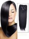 Straight 7 Pcs Clip In Hair Extensions Remy Human Hair CPE011