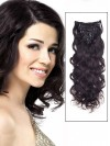 Wavy Natural Black 9 Pcs Clip In Remy Human Hair Extensions CPE028