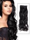 Jet Black Instant One Piece Body Wave Human Hair Extension CPE032