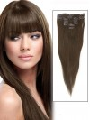 7 Piece Silky Straight Clip In Human Hair Extension CPE036