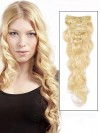 Remy Human Wavy 7 Pcs Clip In Hair Extensions CPE039
