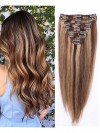 Wavy 8 Pcs Clip In Remy Human Hair Extensions CPE048