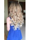 Full Head Hairpiece Wavy Curled Or Straight Heat Resisting CPE055