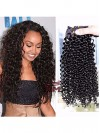 Meiem  Brazilian Virgin African American Curly Clip In Hair Extensions CPE062