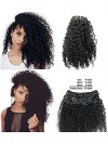 Remy Virgin Hair Kinky Curly African American Hair Extensions CPE063