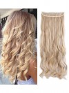 5 Clips Extensions Hair Pieces Clip In Curly Half Full Head With CPE076