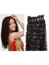 9Pcs Full Head Deep Curly Clip In Brazilian Remy Human Hair Extensions CPE098