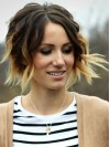 Alluring Chin Length Deep Curly Lace Front Remy Human Hair Wig TW012