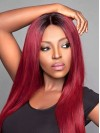 Atractive Long Straight Lace Front Synthetic Wig TW031