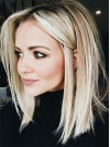 Beautiful Two colors Ombre Straight Bob Remy Human Hair Wig