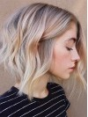Fashion Two colors Ombre Wavy Bob Remy Human Hair Wig
