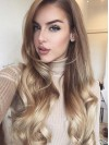 Cheap Long Wavy Capless Two colors Ombre Wig