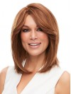 Natural Straight Shoulder Length Bob Cut Real Hair Wigs amaa029