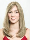 Long Layered Straight Remy Human Hair Wigs amaa039