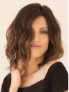 Beautiful Natural Wavy Shoulder Length Remy Human Hair Straight Wigs amaa069