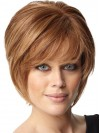 Short Bob Hairstyles Remy Human Capless Bobs Cut Auburn Color amaa120