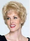 Classic Short Blonde Wavy Remy Human Hair Wigs amaa124
