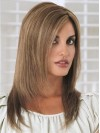 "18"" Layered Straight Remy Human Hair Wig"