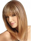 "16"" Length Straight Remy Human Hair Wig"