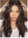 Dark Brown Long Wavy Celebrity Lace Front Human Hair Wig