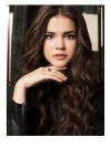 Celebrity Lovely Long Wavy Brown Capless Human Hair Wig