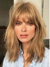 Attractive 2018 Long Wavy Lace Front Human Hair Wig