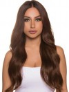 Wavy Ravishing Remy Human Hair Lace Front African American Wig