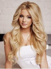 Extra Long Fascinating Young Sexy Remy Human Hair Lace Wigs amaa234