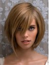 Around Asymmetry Chin Length Capless 100% Real Human Hair Wigs amaa239