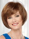 Tempting Short Bob Cut Straight Capless Human Hair Wigs amaa251