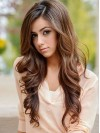 Atractive Extra Long Body Wave Remy Human Hair Lace Front Wig amaa262