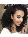 Deep Curly Short Remy Human Hair Lace Front Wigs amab004