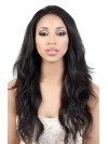 Inch Natural Color Indian Remy Hair Body Wavy Front Lace Wigs amab013