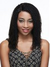 Indian Remy Hair Kinky Curly Front Lace Wigs amab018