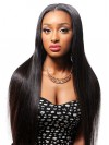 Lace Frontal Wig Silky Straight Virgin Hair For African American amab037