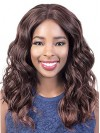 Long Water Wavy Middle Parting Synthetic Wigs For Black Women amab047