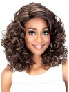 Charming Shoulder Length Deep Curly Synthetic Wigs amab053
