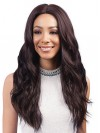 Extra Long Natural Wavy Lace Front Synthetic Wigs amab060