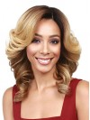 Beautiful Charming Water Wavy Ends Synthetic Lace Front Wigs amab065