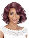 Bob Layered Water Wavy Synthetic Synthetic Wigs For Black Women amab068