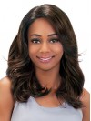 Beautiful Natural Wavy Capless Synthetic Wigs For Black Women amab069