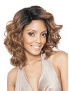 Shoulder Length Water Wavy Sexy Synthetic Capless Wigs amab074