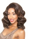 Charming Shoulder Length Body Wavy Lace Front Synthetic Wigs amab077