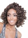 Chin Length Beautiful Deep Curly Synthetic Capless Wigs amab086