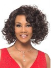 Beautiful Deep Wavy Bob Style Chin Length Synthetic Capless Wig amab089
