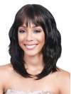 Layered Water Wavy Synthetic Capless Wigs With Full Bangs amab093