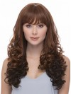Extra Long Charming Wavy Synthetic Capless Wig With Full Bangs amab103