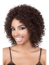 Shoulder Length Kinkly Curly Synthetic Capless Wigs amab116