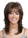 Beautiful Layered Natural Straight Synthetic Capless Wigs amab119