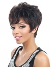 Bree Human Hair Cropped Straight Capless Wig amab172